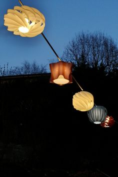 an accessory designed by a cable which allows the application of small and medium Ideal to give a touch of to the most various locations. Light Building, Outdoor Projects, Lampshades, Lighting Design, Cable, Touch, Elegant, Medium, Flowers