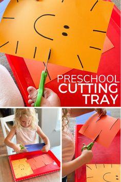 Toddler Fine Motor Activities, Cutting Activities, Preschool Learning Activities, Infant Activities, Preschool Classroom, Physical Activities, Kindergarten, Scissor Skills, Scissor Practice