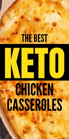 EASY Keto Casseroles for super FAST keto dinner prep! When you need to get keto food on the table ASAP, give these easy keto casserole recipes a try. Your whole family will love them, keto or not! These low carb casseroles include favorites like Keto Buttery Chicken Casserole, Keto Chicken Alfredo Casserole, and Keto Bacon Ranch Casserole. You won't believe these recipes are suitable for the keto diet. Also great as a low carb dinner or low carb lunch! Paleo Keto Recipes, Low Carb Dinner Recipes, Keto Dinner, Diet Recipes, Chicken Recipes, Chicken Alfredo Casserole, Keto Casserole, Casserole Recipes, Low Carb Meal Plan