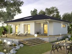 Decorating Your American Bungalow Style House House Outside Design, Small House Design, Modern House Design, Modern Bungalow House, Modern House Plans, Bungalows, Bali Style Home, Living Haus, Casa Loft