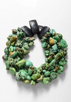 Monies UNIQUE Rough Turquoise Bead Necklace