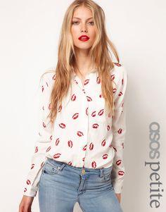 Kissy print blouse, on the wishlist! http://rstyle.me/ieixgcn2w6