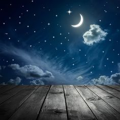 Vinyl photography backdrop Customize Newborns Studio Backdrop Digital Printing Background Sky Moon Stars D-8189
