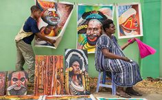 Local art on display in Port Moresby.