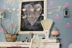 vintage valentine's day decor