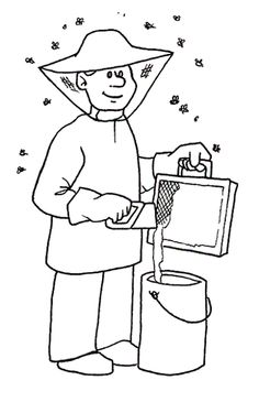 Jobs Printable Coloring Pages 43 Bee Coloring Pages, Online Coloring Pages, Printable Coloring Pages, Free Coloring, Adult Coloring, Coloring Books, Art Drawings For Kids, Art For Kids, Activities For Kids