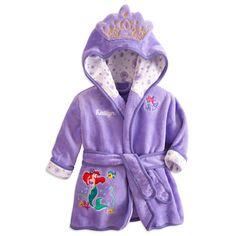Ariel Bath Robe for Baby - Personalizable | Bath Accessories | Disney Store