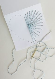 How to Make Hand Sewn Greeting Cards   Use Baker's Twine to Make a Gorgeous DIY Card for Valentine's Day Mother's Day, or Any Other Holiday   Destination Decoration
