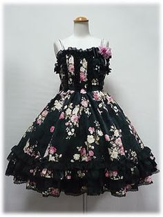 Angelic Pretty Classical Rose Jumperskirt black