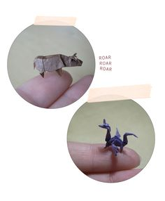Even if the extent of your origami experience is folding a paper airplane in the back of class, these itsy bitsy origami animals are sure to make you gasp a little. So small!