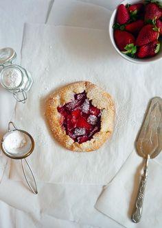 Rustic strawberry tart.