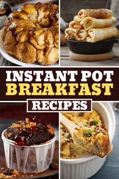 Looking for the best Instant Pot breakfast recipes? From oatmeal to muffins to casserole, these dishes are quick, easy, and so delicious! Just Eat It, Toasted Pecans, Monkey Bread, Cinnamon Rolls, Instant Pot, Casserole, Cravings, Breakfast Recipes, Muffins