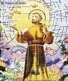 Today is the feast day of St. Francis of Assisi! a favorite saint of young children, and for good reason: St. Francis is known for his love for animals and his spirit of peace. Here's his story to share with your Catholic kids: