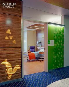 Cheerful colors for a childrens hospital