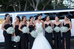 Cheap Strapless Sweetheart Black Satin Sexy Split Front Wedding Party Long Bridesmaid Dress The bridesmaid dresses are fully lined, 4 bones in the bodice, chest Black Bridesmaids, Black Bridesmaid Dresses, Bridesmaids And Groomsmen, Cheap Prom Dresses, Wedding Bridesmaids, Wedding Dresses, Bridesmade Dresses, Bridesmaid Bouquet, Wedding Bouquets