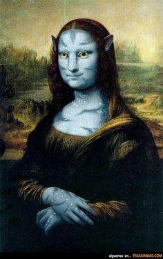 La Mona Lisa estilo Avatar