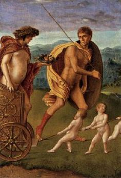 BELLINI, Giovanni Four Allegories: Lust (or Perseverance)  c. 1490 Oil on wood, 32 x 22 cm Gallerie dell'Accademia, Venice  The four panels with Allegories at the Accademia in Venice are often likened to the Sacred Allegory, but they belong instead to the artist's scanty secular production