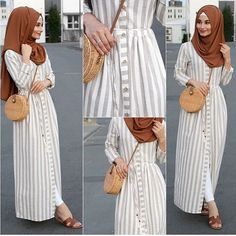 How to add glam to a causal look? Well we can see here in our post how to create a glamorous hijabi looks, and how to get some inspiration by those stunning Hijab Style Dress, Modest Fashion Hijab, Modern Hijab Fashion, Muslim Women Fashion, Hijab Fashion Inspiration, Hijab Chic, Casual Hijab Outfit, Abaya Fashion, Modest Outfits