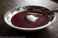 Recipe: Chilled Cherry Soup from Hungary (like blended-up cherry moos)