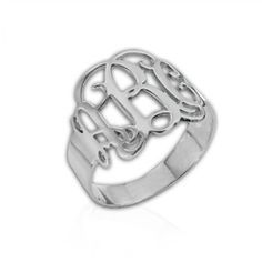 #Libi and Lola            #ring                     #Sterling #Silver #Mono #Ring                       Sterling Silver Mono Ring                           http://www.seapai.com/product.aspx?PID=1120287