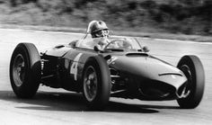 1961 Italian GP Wolfgang von Trips in action minutes before his fatal crash