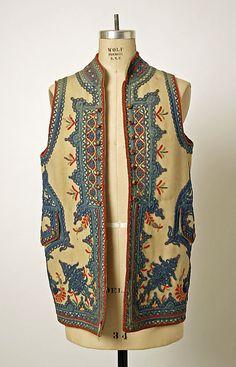 Vest  Date: 1780  Culture: European, Eastern  Medium: wool