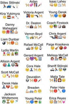 Teen Wolf characters in emojis