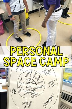 Teach students about respecting personal space and consent by using Julia Cook's Personal Space Camp book and hula hoops! A movement based SEL lesson or guidance lesson that helps students with physical self-control. Teaching Social Skills, Social Emotional Learning, Teaching Kids, Fun Learning, Learning Activities, Respect Activities, Therapy Activities, Elementary School Counseling, School Counselor
