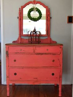 Annie Sloan Scandanavian Pink chalk paint mixed with white Or Fifties paint from Papers and Paints