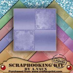 Pastel Quad Corner 8 Scrapbooking Papers Kit on Craftsuprint - Add To Basket!