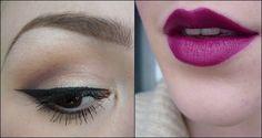 Lobve this look Beauty Makeup, Hair Makeup, Hair Beauty, Berry Lips, Purple Lips, Best Eyeshadow, Bold Lips, Makeup Inspiration, Style Inspiration