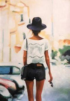 """Street Hat,"" original figurative painting by artist  Thomas Saliot (France) available at Saatchi Art #SaatchiArt."