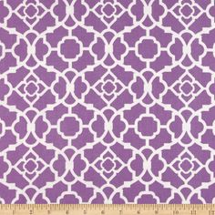 Waverly Lovely Lattice Sateen Violet- cute for baby girl nursery (gray+purple)