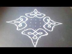 kolam - Very easy to draw the kambi kolam Free Hand Rangoli Design, Rangoli Designs With Dots, Rangoli Designs Images, Beautiful Rangoli Designs, Basic Painting, Indian Rangoli, Muggulu Design, Floor Art, Simple Rangoli