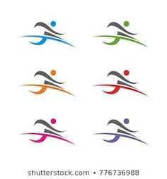 Imágenes similares, fotos y vectores de stock sobre fitness elements and logos; 119469805 | Shutterstock Olympic Icons, Person Running, Fitness Icon, Sports Figures, Run Happy, Illustration, Lettering, Education, Abstract