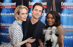 Actors Sarah Paulson, Matt Bomer and Angela Bassett attend SiriusXM's Entertainment Weekly Radio Channel Broadcasts From Comic-Con 2015 at Hard Rock Hotel San Diego on July 11, 2015 in San Diego, California.