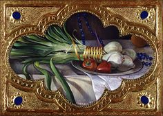 Fred Wessel Tempera with Oil, Green Onions