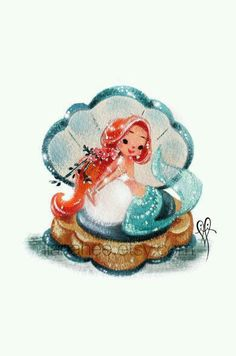 Vintage Mermaid Art                                                                                                                                                      More