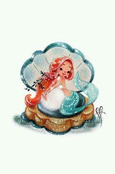 Vintage Mermaid Art                                                                                                                                                      More