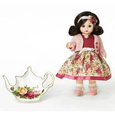 "tea time with old country roses doll 8"" ~ madame alexander"