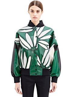 Marni Printed Leather Bomber Jacket