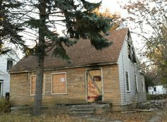Eminem's childhood home 19946 Dresden Street, between 7 & 8 mile road on Detroit's East Side. After a fire the house was demolished in 2013.