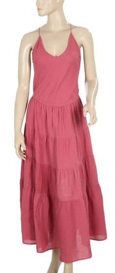 Free People Tie Knot Coral Maxi Dress XS
