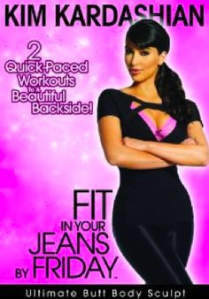 Kim Kardashian Workout I love the trainer who did this video. It only uses 3 lb weights and my whole body hurt. The trainer is a dancer. I called this DVD the body transformer.