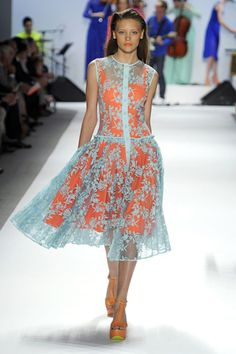 Nanette Lepore - lace over mod, baby blue over shocking orange - I like the mix!