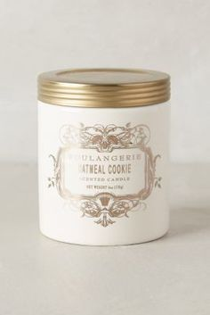 Boulangerie Candles from Anthropologie!  My favorites are Oatmeal Cookie, Sweet Vanilla Cinnamon & Angel Food!