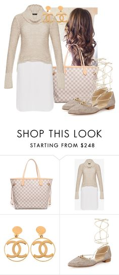 """""""Untitled #1191"""" by wwwstylecliquescom ❤ liked on Polyvore featuring Louis Vuitton, BCBGMAXAZRIA, Chanel and Stuart Weitzman"""