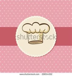 Symbol of chef hat for menu or card design - stock vector