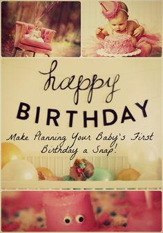 Who doesn't love celebrating Baby's First Birthday? These fun and creative ideas will help you figure out the best way to ring in that first year!