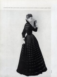 Jacques Fath Evening Gown, 1947.  Photo by Harry Meerson